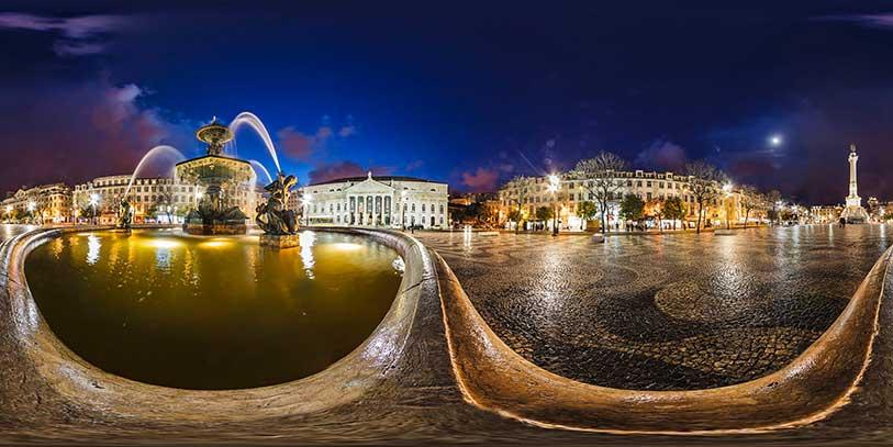 Pinche en la plaza del Rossio. Le aguarda un viaje espectacular por la capital portuguesa a través de la pantalla.