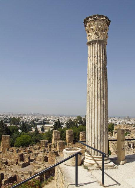 Ruinas de la Cartago fenicia.