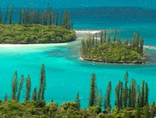 Vista del Cruise lagoon, en las Islas Cook.