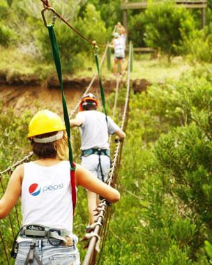 Algunos de los rincones y actividades que forman parte del d�a a d�a en el Parque Reserva Punta Rubia.
