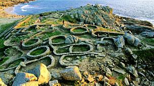 El castro de Baro�a, perteneciente al municipio de Porto do Son, es uno de los m�s representativos de Galicia.