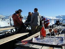 El nuevo 'lounge' para disfrutar del espumoso en la nieve.