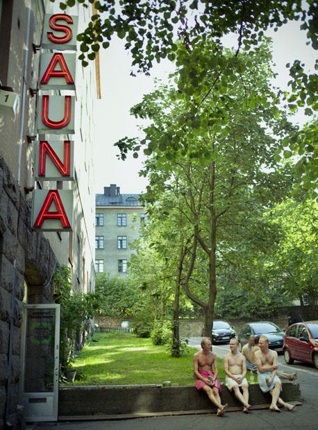Exterior de una de las más de tres millones de saunas que tiene Finlandia.
