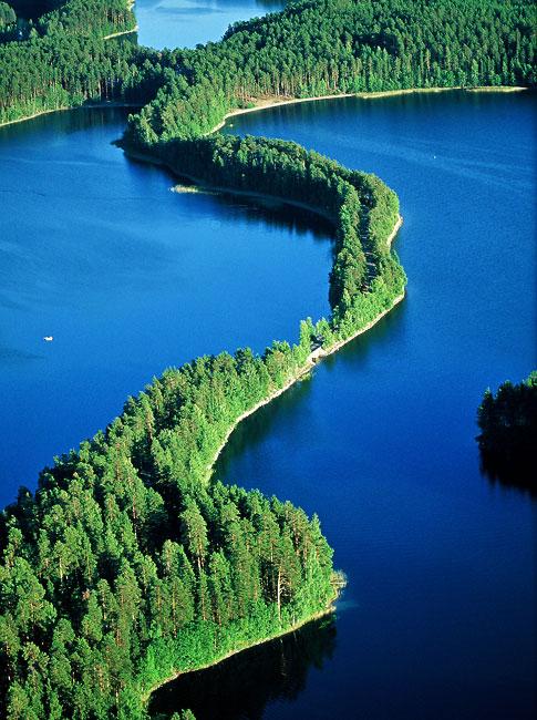 Panorámica laberíntica del Lago Saimaa, el más extenso de Finlandia.