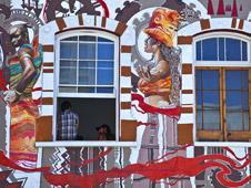 Arte callejero en los suburbios de Ciudad del Cabo. Foto: Shutterstock.